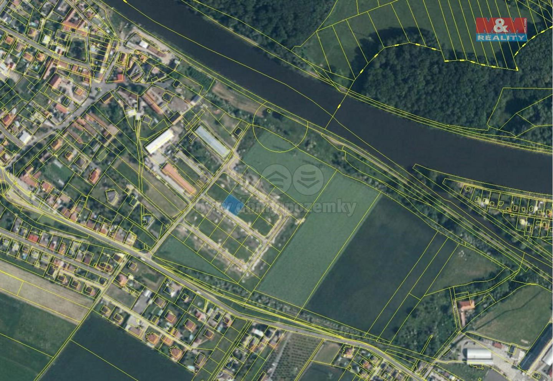 Prodej pozemku k bydlení, 906 m², Jiřice - Kostelec n/L