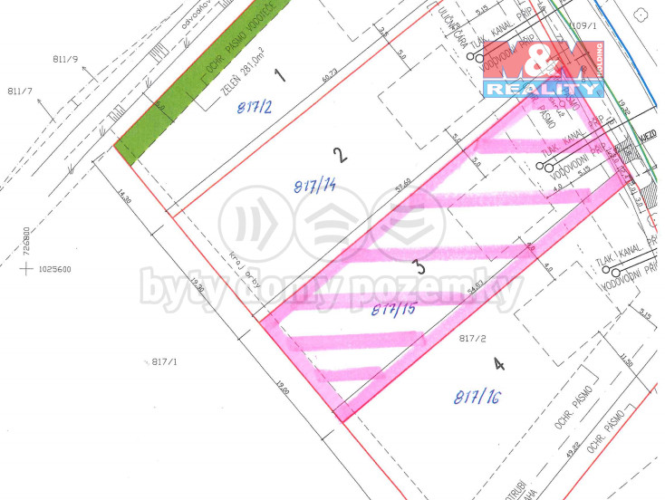 Prodej pozemku k bydlení, 1070 m², Nedomice