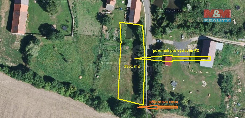 Prodej pozemku k bydlení, 1551 m², Libčeves