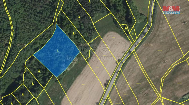 Prodej lesa, 5708 m², Tísek