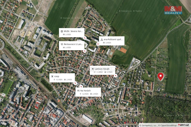 Prodej zahrady, 2684 m², Poděbrady, ul. Jahodová