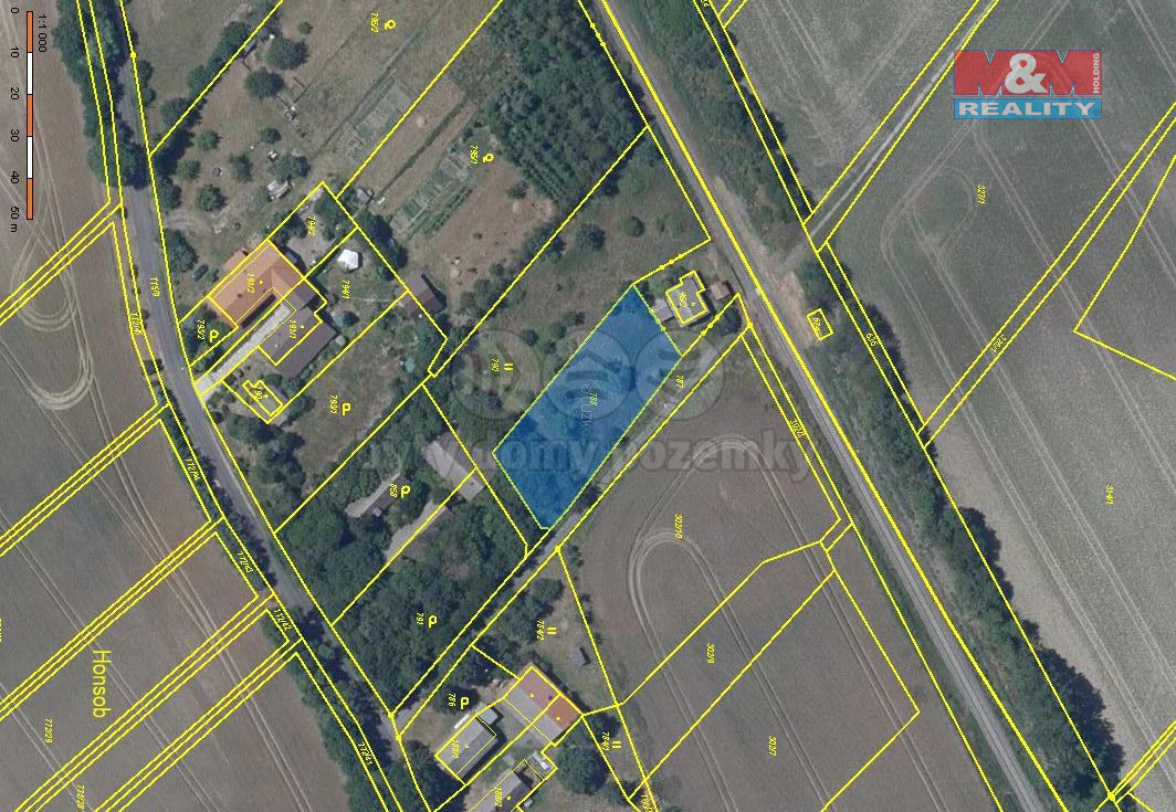 Prodej pozemku k bydlení, 1148 m², Březina, ul. Honsob
