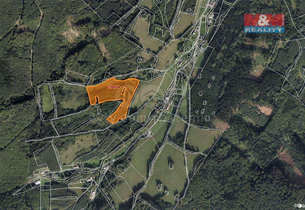 Prodej lesa, 23052 m², Vápenná