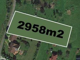 Prodej, stavební parcela, 2958 m2, Pstruží
