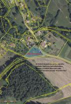 mapa pozemku (Prodej, stavební parcela, 1378 m2, Svor - Rousínov), foto 3/6