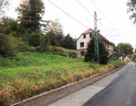 Pohled ze silnice (Prodej, stavební pozemek, 1393 m2, Vratislavice nad Nisou), foto 3/4