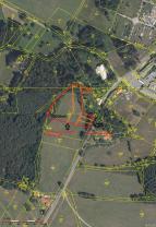 Mapa stavební pozemek 7150m2 (Prodej, pozemek, 7150m2, Cvikov), foto 4/11