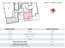 Prodej, byt 1+ kk, 69,5 m2, Praha 5 - Smíchov
