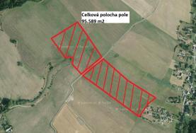 ortofoto (Prodej, pole, 95589 m2, Meziměstí - Vižňov), foto 2/10