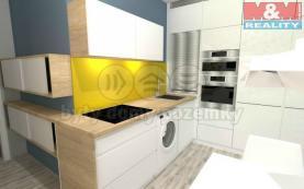 vizualizace kuchyň (Prodej, byt 2+1, 50 m2, Nový Bohumín, ul. Čs. Armády), foto 2/4
