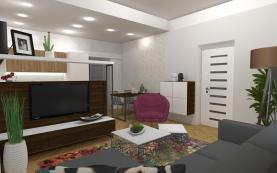 569127_obývací a jídelní část (Prodej byt 3+1, 79 m2, Moravská Ostrava, Myslbekova), foto 4/9