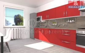 Prodej, byt 2+kk, 52 m2, Pardubice - Studánka