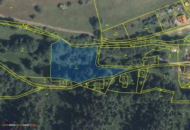 mapa+letecký (Prodej, pozemek, 4100 m2, Perštejn - Vykmanov), foto 2/3