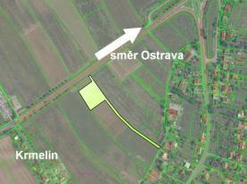 letecka mapa popis (Prodej, stavební pozemek, 4434 m2, Krmelín), foto 2/8