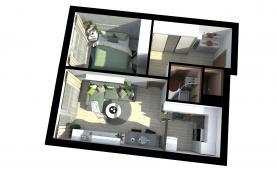 Prodej, byt 2+kk, 46 m2, Krč (Prodej, byt 2+kk, 46 m2, Praha 4-Krč, ul. Trnková), foto 3/15