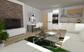 Prodej, byt 3+kk, 62 m2, Branov
