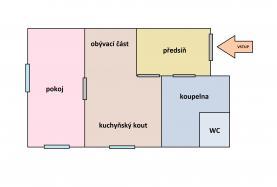 Prodej, byt 2+kk, 49 m2, Branov