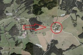 Prodej, pozemek, 3607 m2, Malšín - Větrná