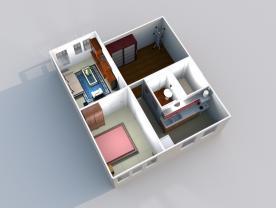 Prodej, byt 2+1, 52 m2, OV, Praha - Žilevecká