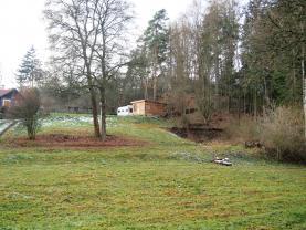Prodej, stavební pozemek s chatou, 1016 m2, Svojšín