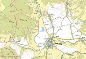 mapa (Prodej, orná půda, 19582m2, Kravaře v Čechách), foto 3/4