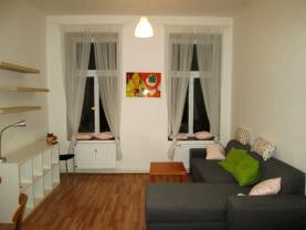 Obývací pokoj (Pronájem, byt 2+kk, 42 m2, Brno - Zábrdovice), foto 2/6