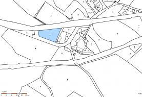 Mapa pozemku (Prodej, pozemek, 3395 m2, Holany - Hostíkovice), foto 4/5