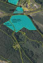 Katastrální mapa (Prodej, les, 3322 m2, Holany), foto 3/3