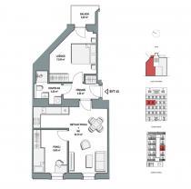 Prodej, byt 3+kk, 63,3m2, Praha 9, ul. Lihovarská