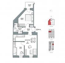 Prodej, byt 3+kk, 64m2, Praha 9, ul. Lihovarská