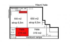 Půdorys (Pronájem, výrobní objekt, 215 m2, Bruntál), foto 4/4