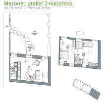 Prodej, Byt 2+kk+predzahradka, 165m2, Praha 10, ul. Orelská