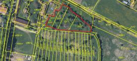 Prodej, pozemek, 3714 m2, Dobev, Velké Nepodřice