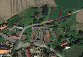 Prodej, stavební parcela, 1816 m2, Šebířov - Vyšetice
