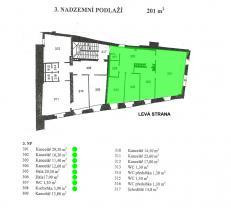 Plánek  (Pronájem, kancelář, 89 m2, Praha 1 - Malá Strana), foto 4/8