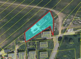 Prodej, pozemek, 875 m2, Tlučná