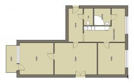 Prodej, byt 3+1, Jindřichův Hradec, ul. sídliště Vajgar