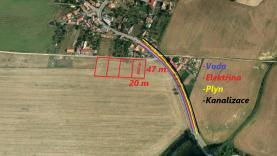 VIP, Prodej, stavební parcely, 950 m2, Bojanovice