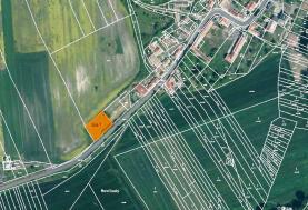 Prodej, stavební parcela, 1066 m2, Orasice