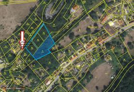 Prodej, stavební pozemek, 2305 m2, Nižbor