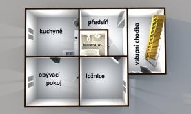půdorys přízemí (Prodej, rodinný dům 4+1, Kyselovice)