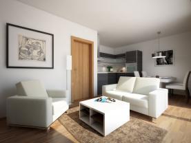 Prodej, byt, 2+kk, 51m2, Zbůch