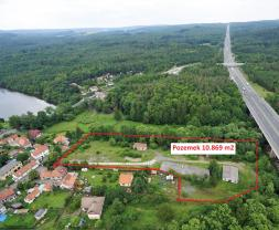 Prodej, parcela, celková plocha 10.869 m2, Voznice u Dobříše