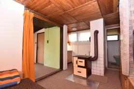 Obývací pokoj (Prodej, chata 2+1, 40 m2, Kosmonosy)