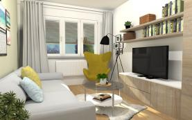 obývací pokoj-vizualizace (Prodej, byt 3+1, 60 m2, OV, Ústí nad Labem, ul. Bří. Čapků), foto 4/29