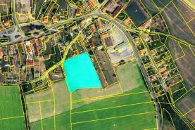 Prodej, stavební parcela 7577 m2, Senomaty-Hostokryje
