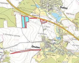 Prodej, pole, 62 309 m2, Družec - Kladno
