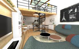 Prodej, loftový byt 2+kk, 92 m2, Praha 8, ul. Novákových