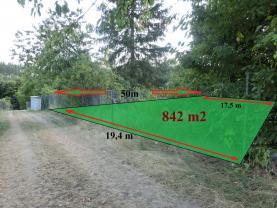 Prodej, zahrada, 842 m2, Stražisko
