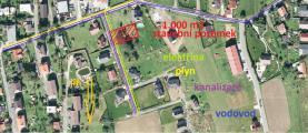 Prodej, stavební pozemek, 1000 m2, Krhová